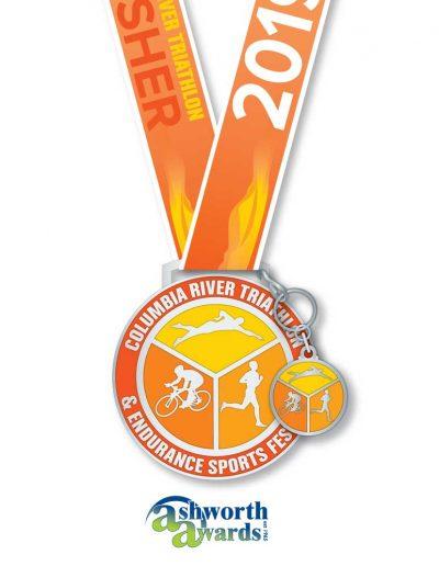 CRE Triathlon Medal 2019
