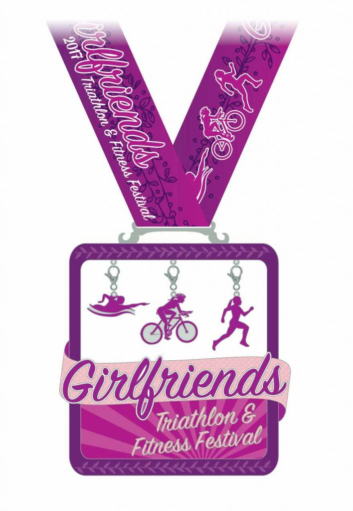 2017 Girlfriends Triathlon Medal