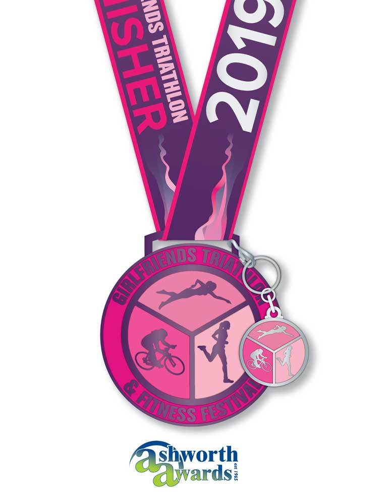 Girlfriends Triathlon Medal 2019