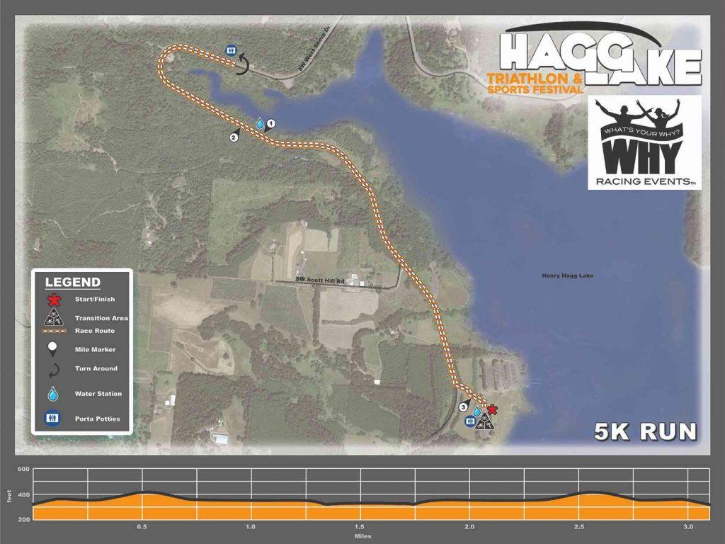 Hagg Lake 5k Route
