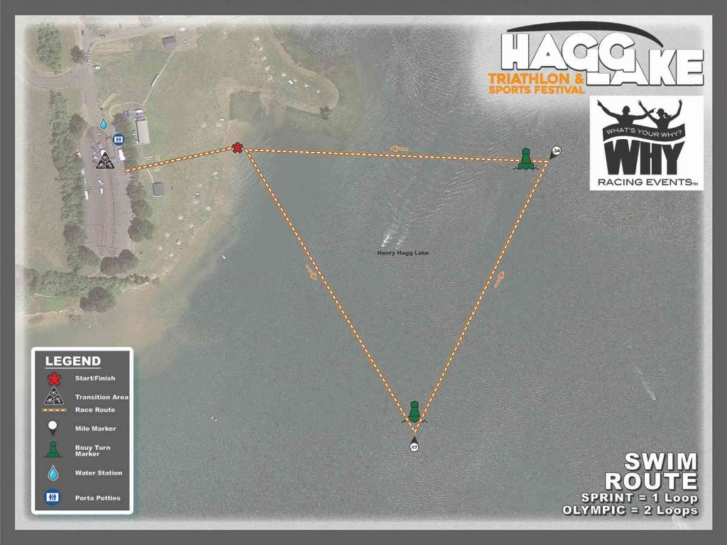 Hagg Lake Swimming Route