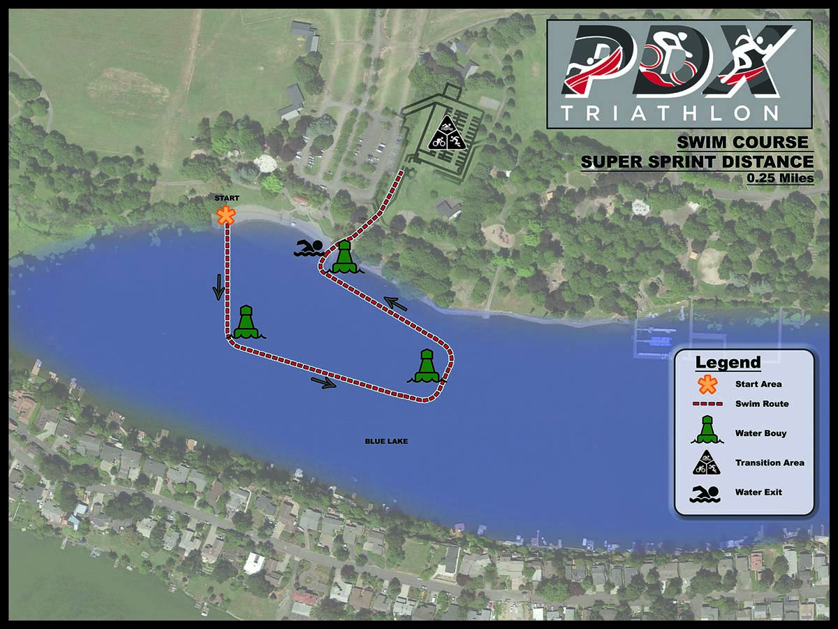 Course Details - PDX Triathlon at Blue Lake - Portland OR