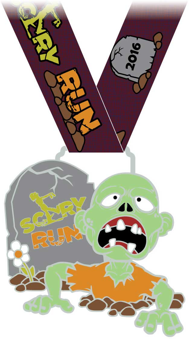 2016 Scary Run Medal